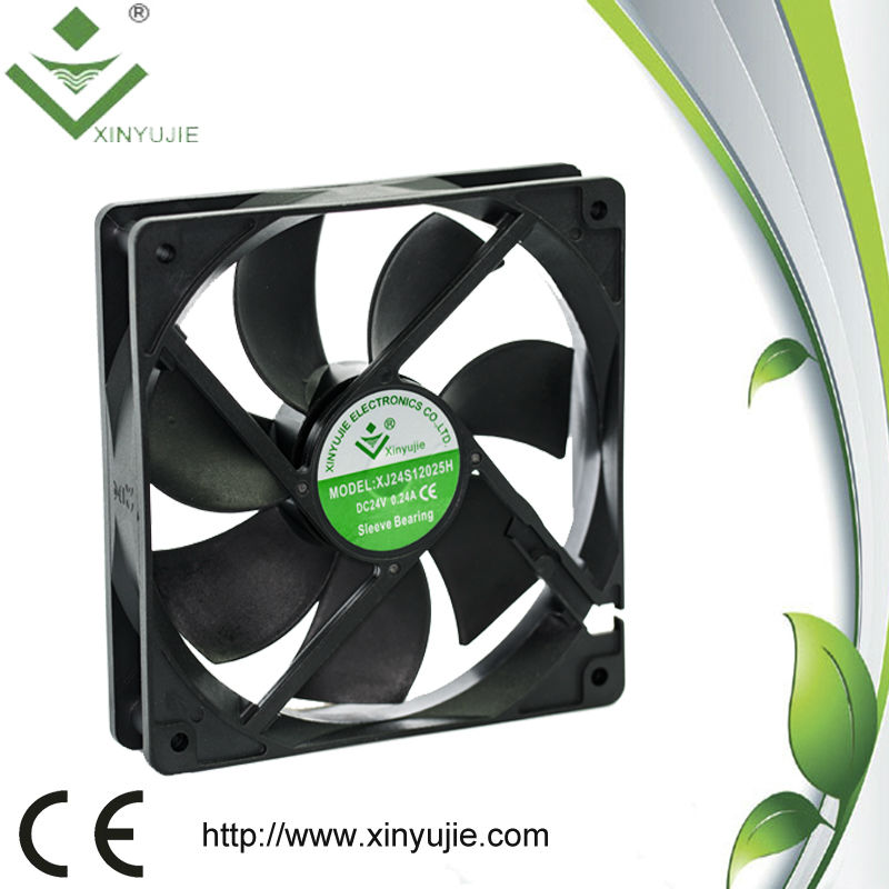 120x120x25MM Standing Fans with Vertical Wind Tunnel 12V DC Fan Motor