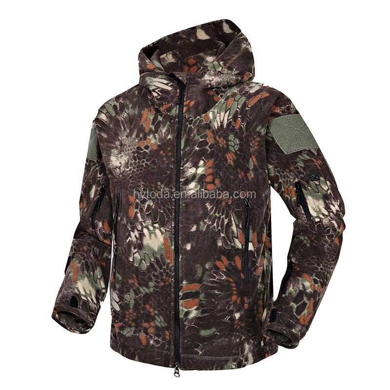 Jacket Men Army Camouflage Army  Fleece Jacket Green