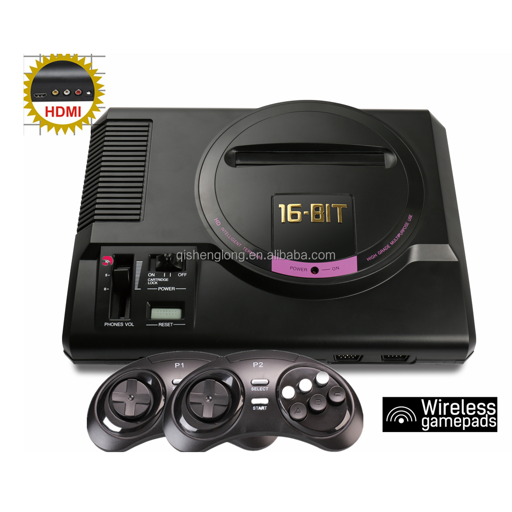 Wireless HD version for MegaDrive/MD video game console for sega 16 bit video game