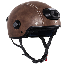 Protective real C6 airwheel leather helmet motorcycle with hand-free phone call