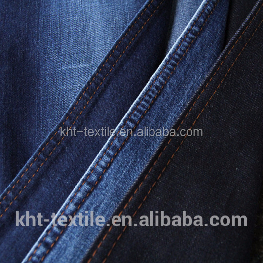 KHT <strong>cotton</strong>& polyester&spandex&VISCOSE stretch denim fabric 9.7oz denim