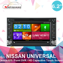 HD capacitive touch screen double-din Universal car dvd player with 3g/wifi internet, DVR, OBD, DSP audio, mirror link