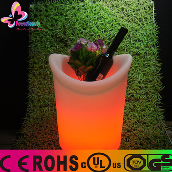 Remote control plastic LED ice bucket
