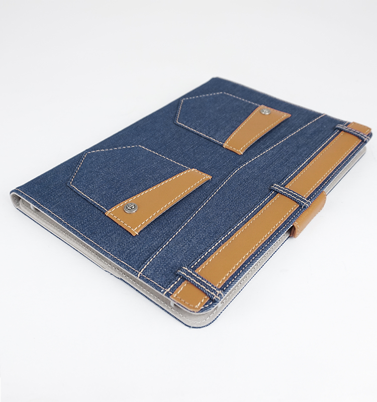 Well selling Denim leather jean PC case for Ipad Air