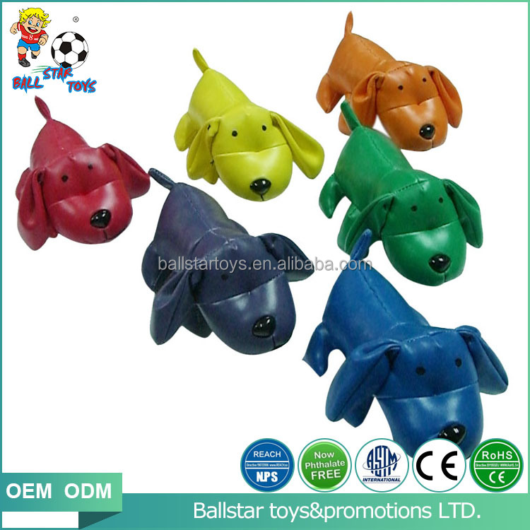 Vinyl leather stuffed soft stress gift animal dog toys for child, baby toys dog toys outdoor