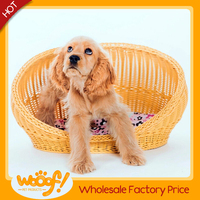 Hot selling pet dog products high quality rattan cat bed