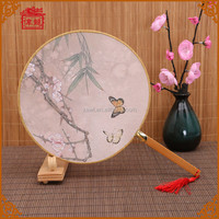 Customizable Decorative Oriental Hand Fans Chinese Round Hand Fans TS-10