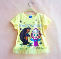 Kids Clothes In China With Cartoon Characters Masha And The Bear Cute Tshirt For Child
