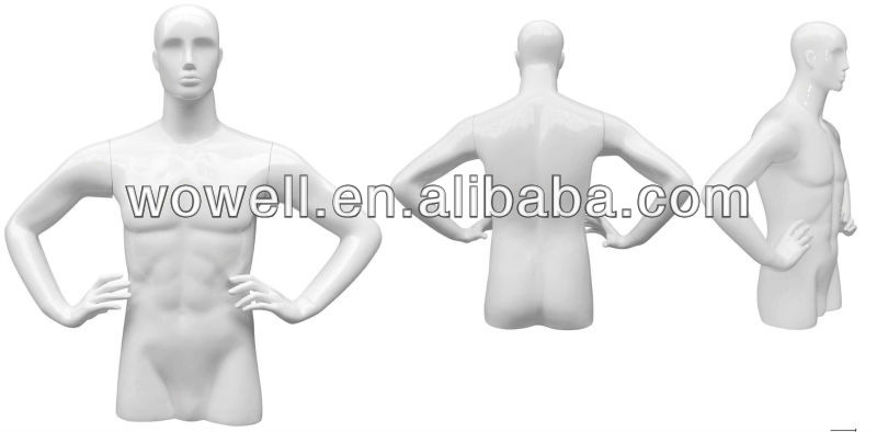 2013 hot sell abstract male sports half body mannequin/mannekin/dummy/models on sales