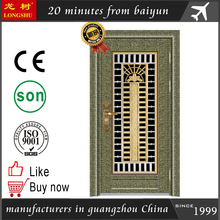 Stainless steel singleswing safety door design with grill