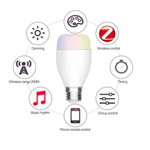 2.4Ghz Wi-Fi LED lamp alexa echo smart wireless RGBW wifi light bulb works with google home