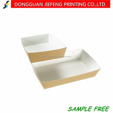 Custom printed disposable fast food serving paper food tray