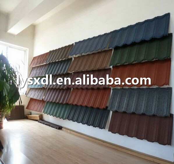 Roof tile price list impervious warehouse building material, Stone Coated Steel Roofing Tile