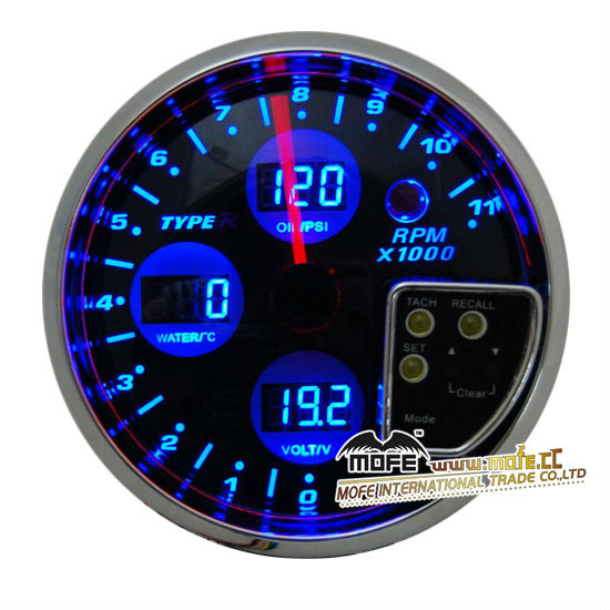 120mm 4 in 1 RPM Tachometer With LCD