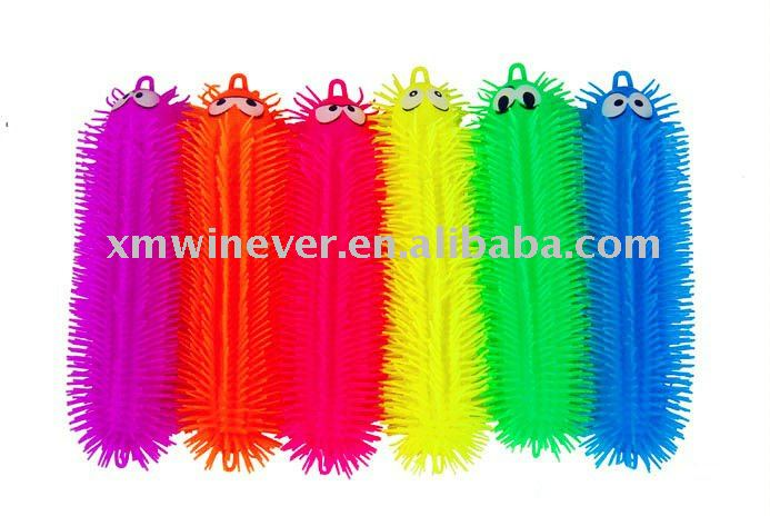 Animal Flashing TPR Puffer Ball ,Single Color Caterpillar