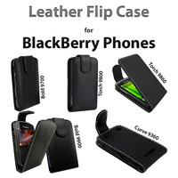 STYLISH LEATHER FLIP CASE FOR BLACKBERRY CURVE 9360 BOLD 9700 TORCH 9800 9860 BOLD 9900