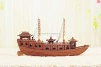 china style present wooden boat