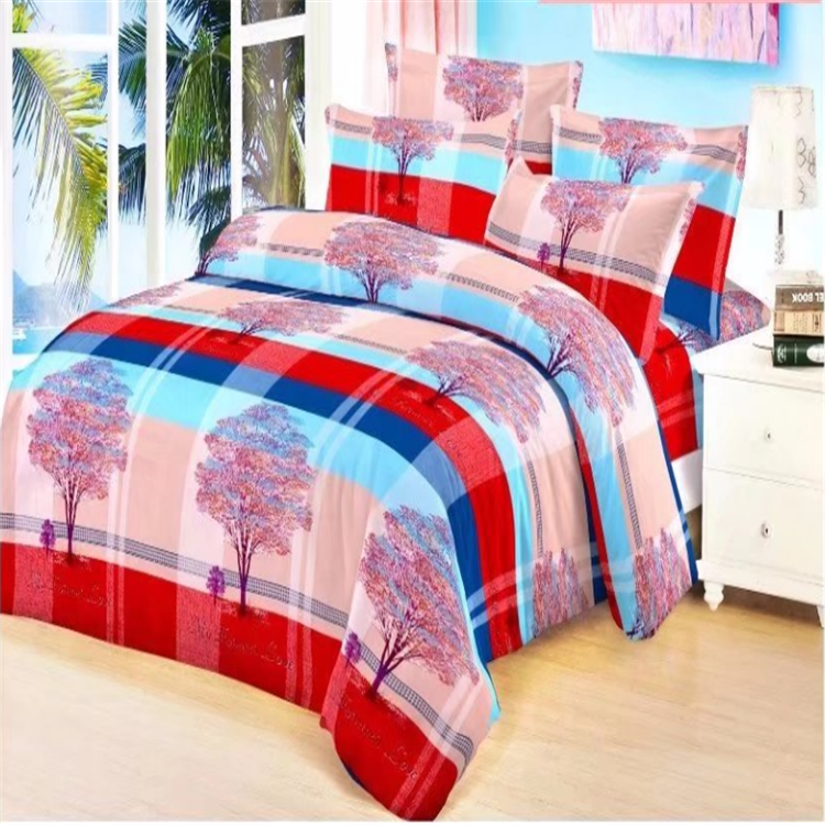 China supplier export polyester microfiber brushed print bed sheet