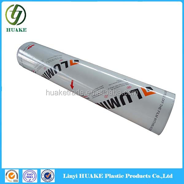 100 Microns Transparent Ldpe Protective Film Roll For Adhesive Plastic