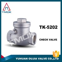 Factory Supply Swing DN15 Female*Female BSP Thread Stainless Steel Check Valve For Water Meter