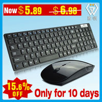 Wireless 2.4G Slim Computer Common USB White Keyboard and Mouse Combo, ISO Factory