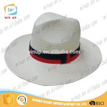 WINUP high quality men folding straw hat custom cheap dad hat