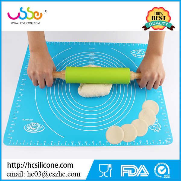 Shenzhen Hanchuan Professional Nonstick Rolling Pin Silicone Dough Rollers