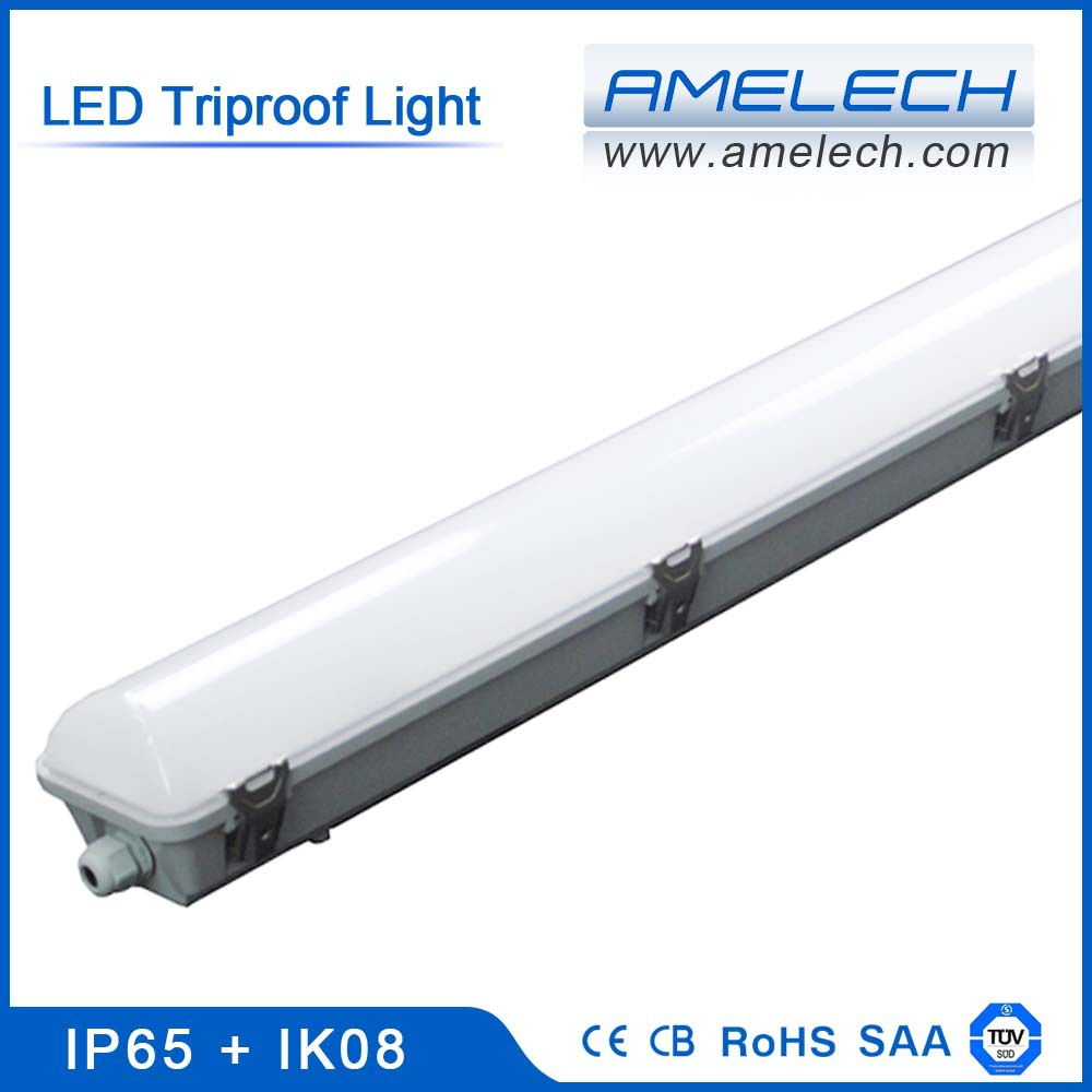 tuv saa 38w 48w 75w tri-proof ip65 samsung 5630 smd led linear lighting fixture