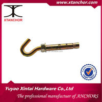 m10x12x100 open hook C shape turkey sleeve anchor yzp Hex bolt type sleeve anchor plastic ring