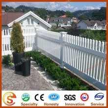 PVC coated vinyl white plastic garden fence panels with decorative style