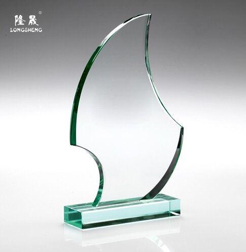 Blank Jade Glass Trophy Award Plaque Wholesale Factory
