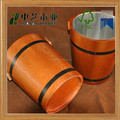 Hot sale wooden bucket with metal liner for ice bucket