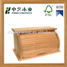 Bread Storage Box Wooden Food Container Saver Cake Muffin Breadboard