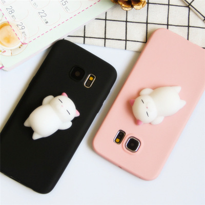 Wholesale cute bear squishy soft silicone shokproof mobile phone case For samsung S8 Plus S6 S7 edge