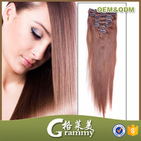 triple weft plastic clip in for hair extensions