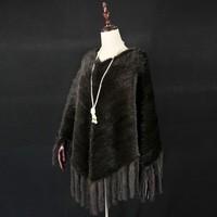 Fashion Latest Design Shawl /Now Moder Shawl / 2016 Popular Hand Knitted Mink Scarf and Shawl
