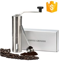 Stainless steel CE CB mini commercial manual coffee maker grinder ceramic burr