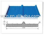 prepainted sandwich panel for roof and wall