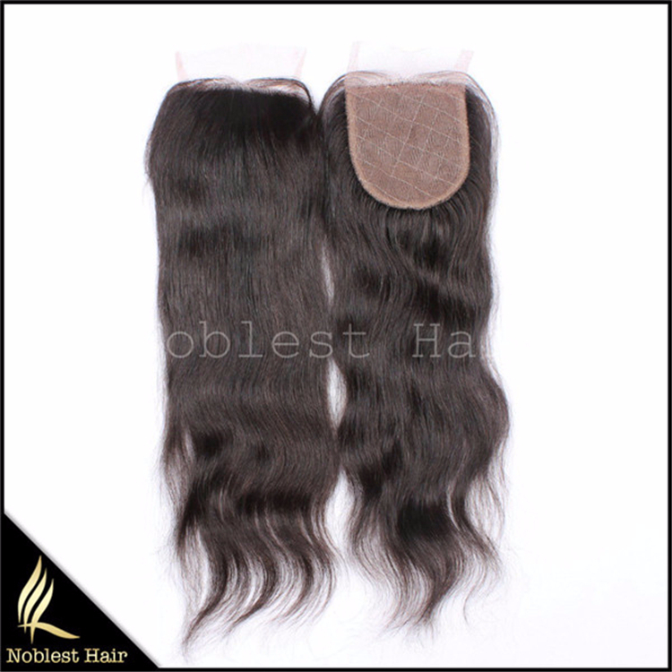 Virgin Remy Malaysian Human Hair Silk Base Closures Straight Freestyle Parting 3 Part 3.5x4 Lace Closure Silk Top Closure