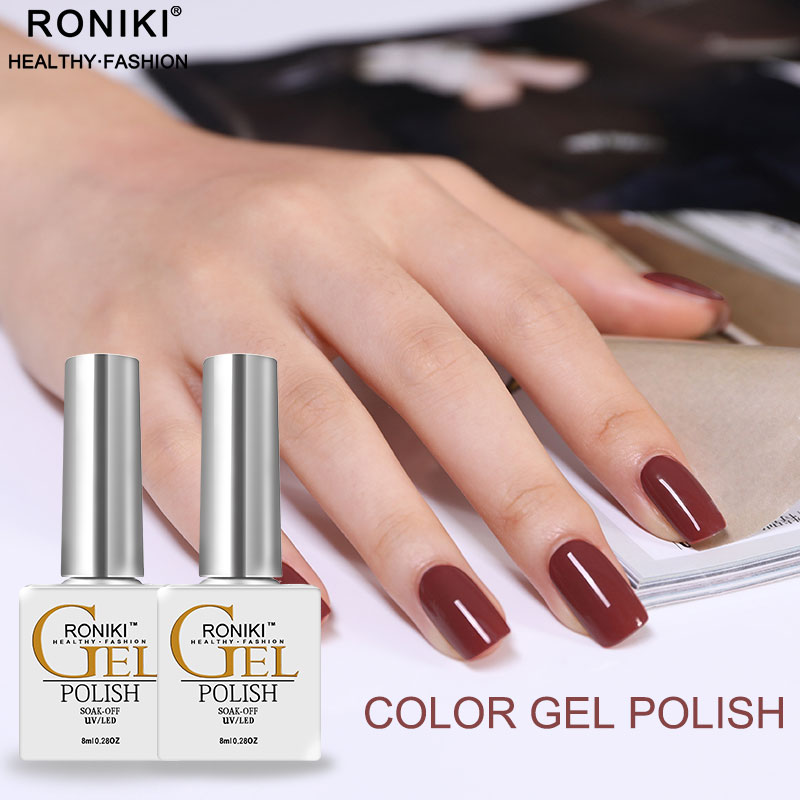 RONIKI Nail Beauty Supplies Soak Off LED Long Lasting Gel Varnish