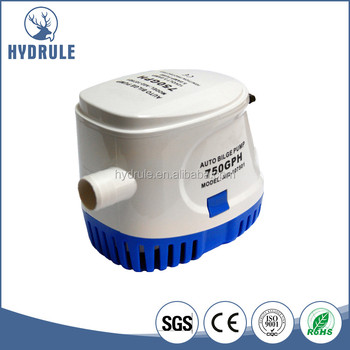 Float Switch Submersible Pump, Boat Water Pump, 750GPH 12V Automatic Sea Water Pump