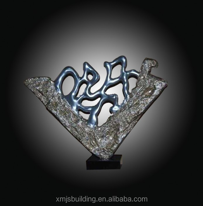 Abstract Granite/Metal sculpture as Home Decoration