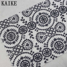 Custom wholesale franch geometric embroidery lace fabric