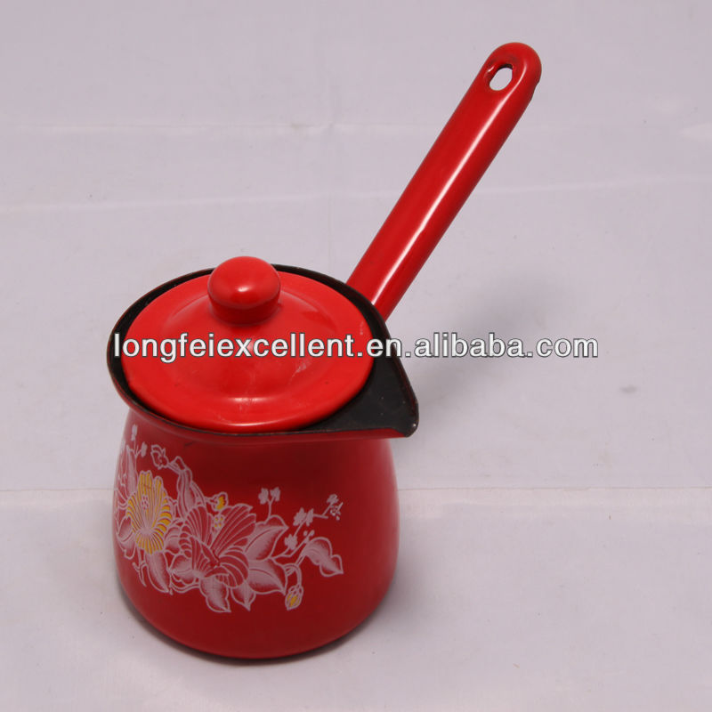 4PCS enamelware antique tea kettle turkish enamel coffee can&boiler&naker&cooker&warmer coffee pot