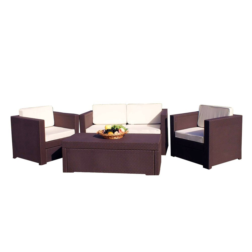 gray outdoor furniture new rattan sofa