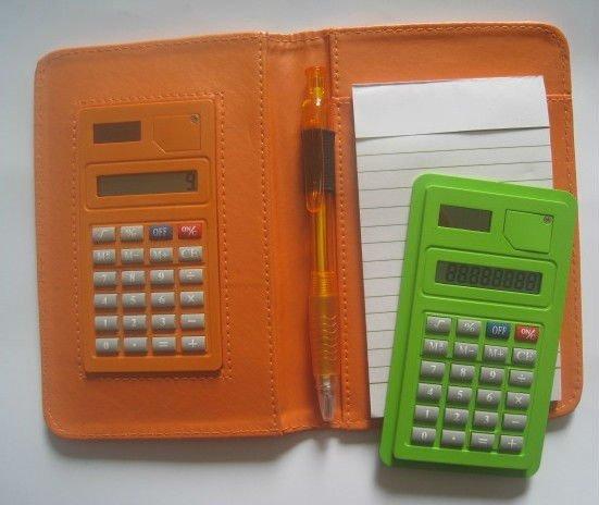 promotional mini gift notepad desk calculator