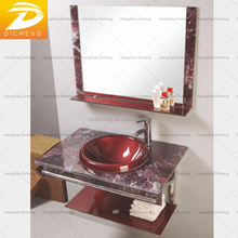 Two Pieces Modern Designs Home Used Hangzhou Cheap Glass Sanitary Ware Basin