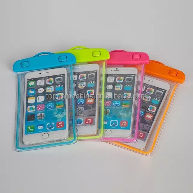 Luminous pvc phone waterproof case for samsung galaxy s3 mini i8190
