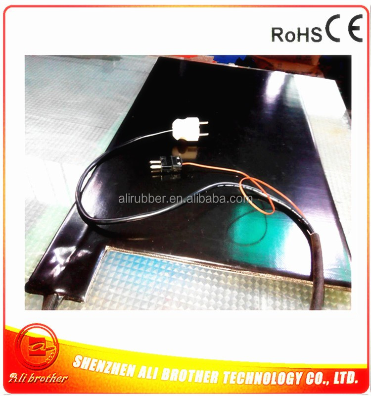 610*610*7mm Electric Tyre Heater silicone rubber heater 220v 1000w J type thermocouple on pad 1000mm lead wire from side
