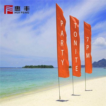 High End Custom Printing Beach Flags Outdoor For Sale